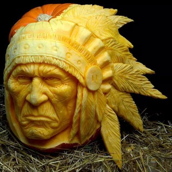 pumpkin sculptures