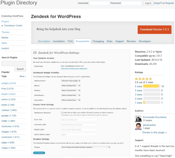 Zendesk-for-WordPress