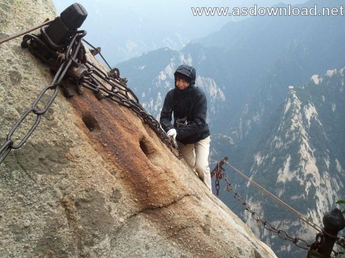 Mount-Huashan Danger Trail in world (2)