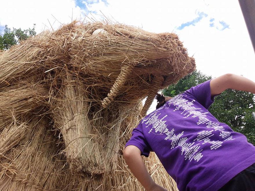 dinosaur-straw-sculptures-wara-art-festival-niigata-japan-11