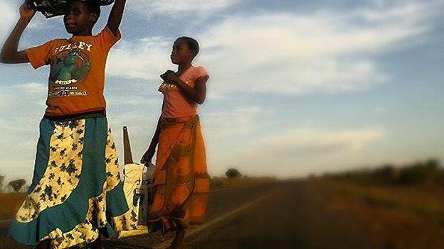 Walkers in Malawi