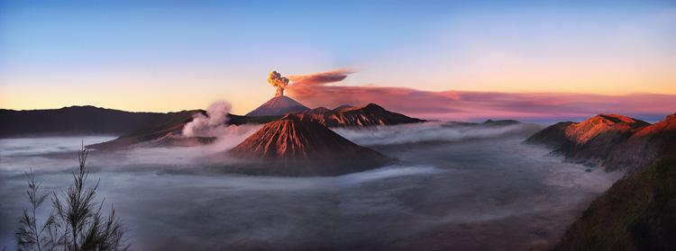 آتشفشان Bromo در شرق جاوا