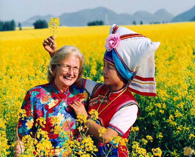 مزارع گل کلزا در Luoping