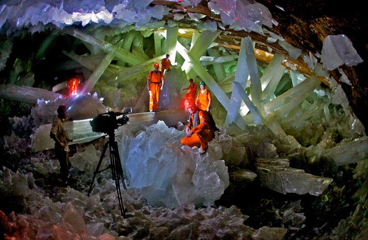 غار کریستال در Chihuahua