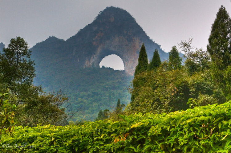 تپه ماه (Moon Hill) در Yangshuo