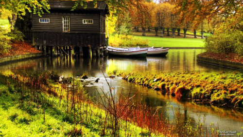 landscapes wallpaper the house on the lake