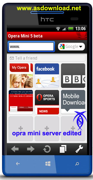 opera mini android+ server edited