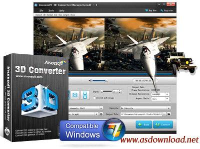 Aiseesoft 3D Converter Aiseesoft 3D Converter v6.3.56 نرم افزار تبدیل فیلم دو بعدی به سه بعدی و برعکس