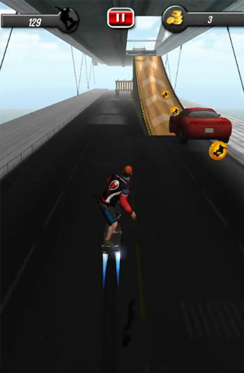 Screenshots of the Sky skates 3D for Android tablet, phone.
