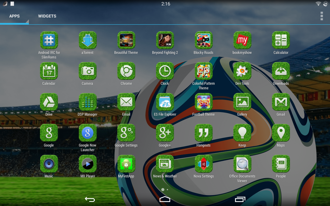 football theme android