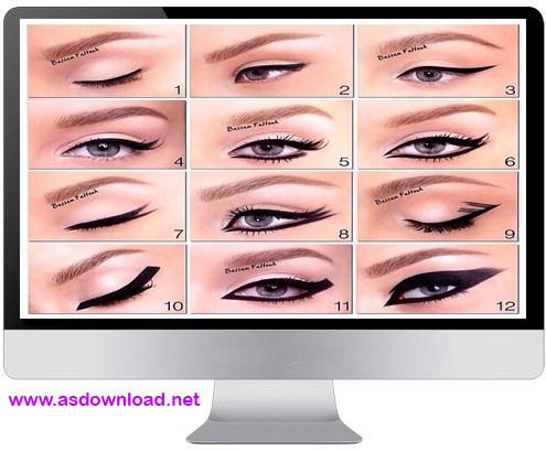 12 EYELINER فیلم آموزش 12 مدل حرفه ای آرایش مژه ها و گریم چشم