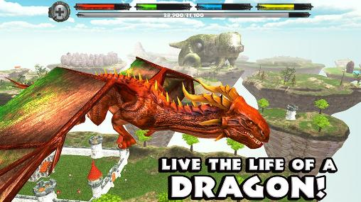 Screenshots of the World of dragons: Simulator for Android tablet, phone.