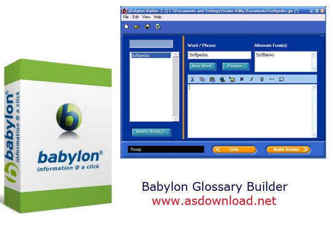 Babylon Glossary Builder