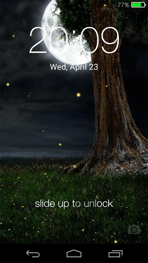 Fireflies lockscreen-2