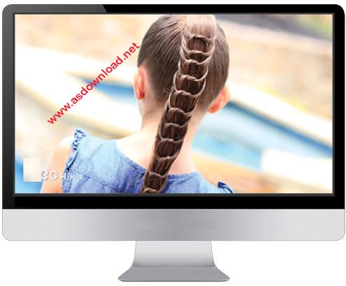 tutorial Hairstyles دانلود فیلم آموزش بافت موهای بلند به روش حرفه ای
