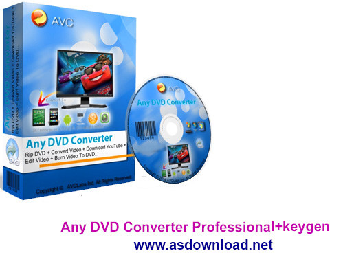 Any DVD Converter Professional+keygen