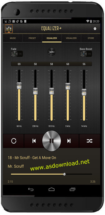 Equalizer + mp3 Player Volume