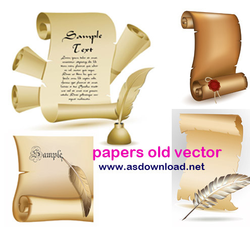papers old vector دانلود وکتور کاغذ خوشنویسی