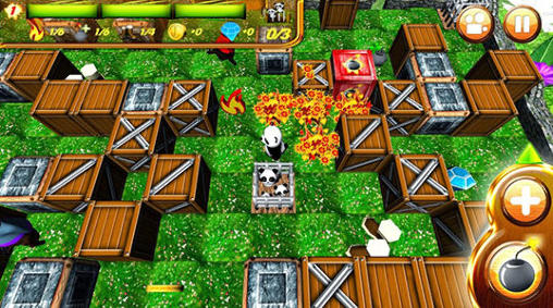 Screenshots of the Hero panda: Bomber for Android tablet, phone.