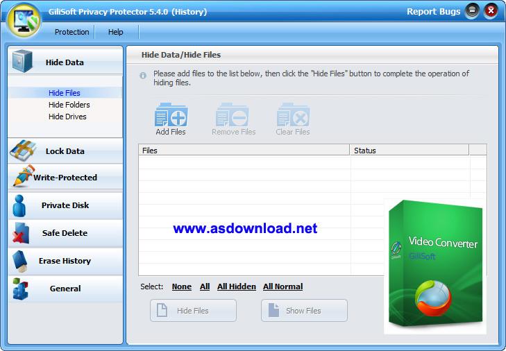 GiliSoft Privacy Protector GiliSoft Privacy Protector v5.6 + keygen نرم افزار قفل گذاری بر روی فایل های شخصی