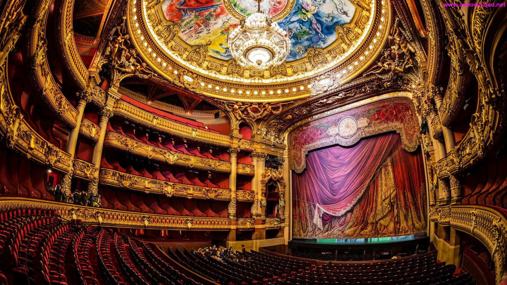 Palais Garnier Auditorium Design Wallpaper دانلود والپیپر جدید 2015