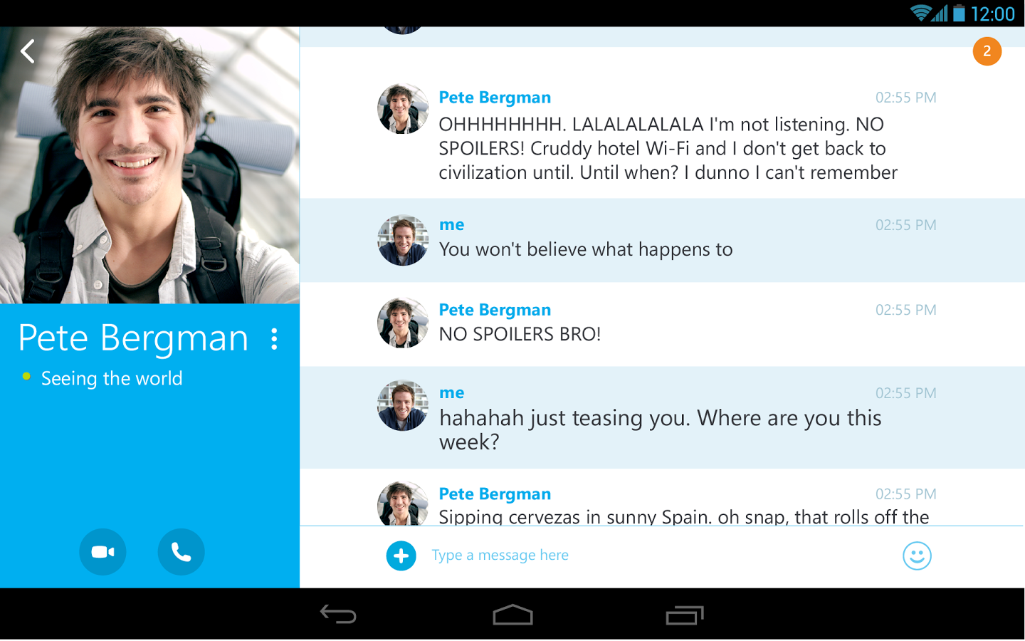 Skype android 2
