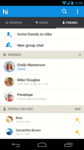 hike messenger - Android2